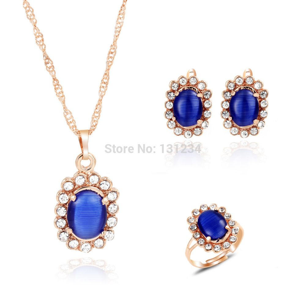 European engagement round acrylic earrings adjustbale ring sets gold