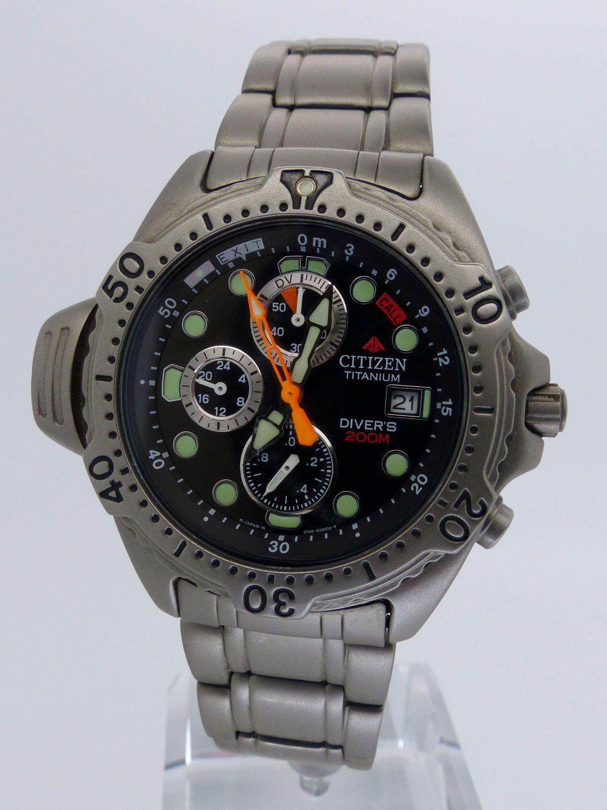 04423aade8c CITIZEN Promaster Aqualand AY5040-51E Titanium Diver 3740-H17575 ...