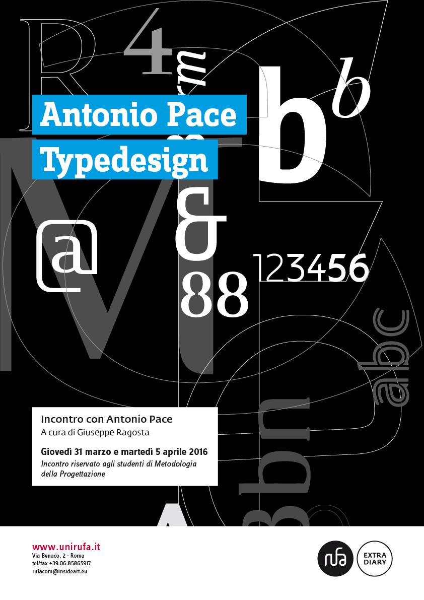 Il Typedesigner Antonio Pace incontra gli studenti RUFA all'interno della lezione di Metodologia della Progettazione