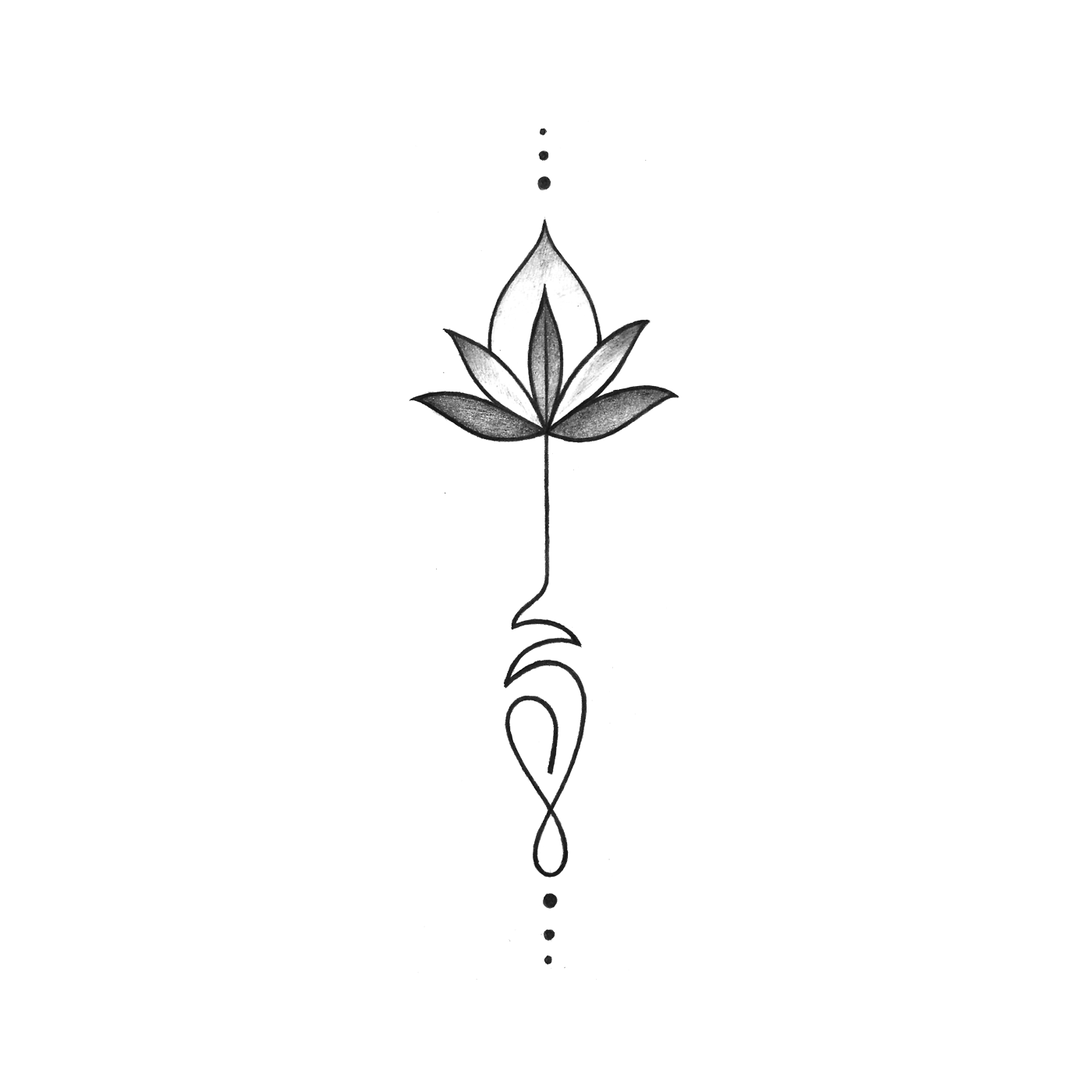 gray lotus temporary tattoo design tattoo 39 s tattoo. Black Bedroom Furniture Sets. Home Design Ideas