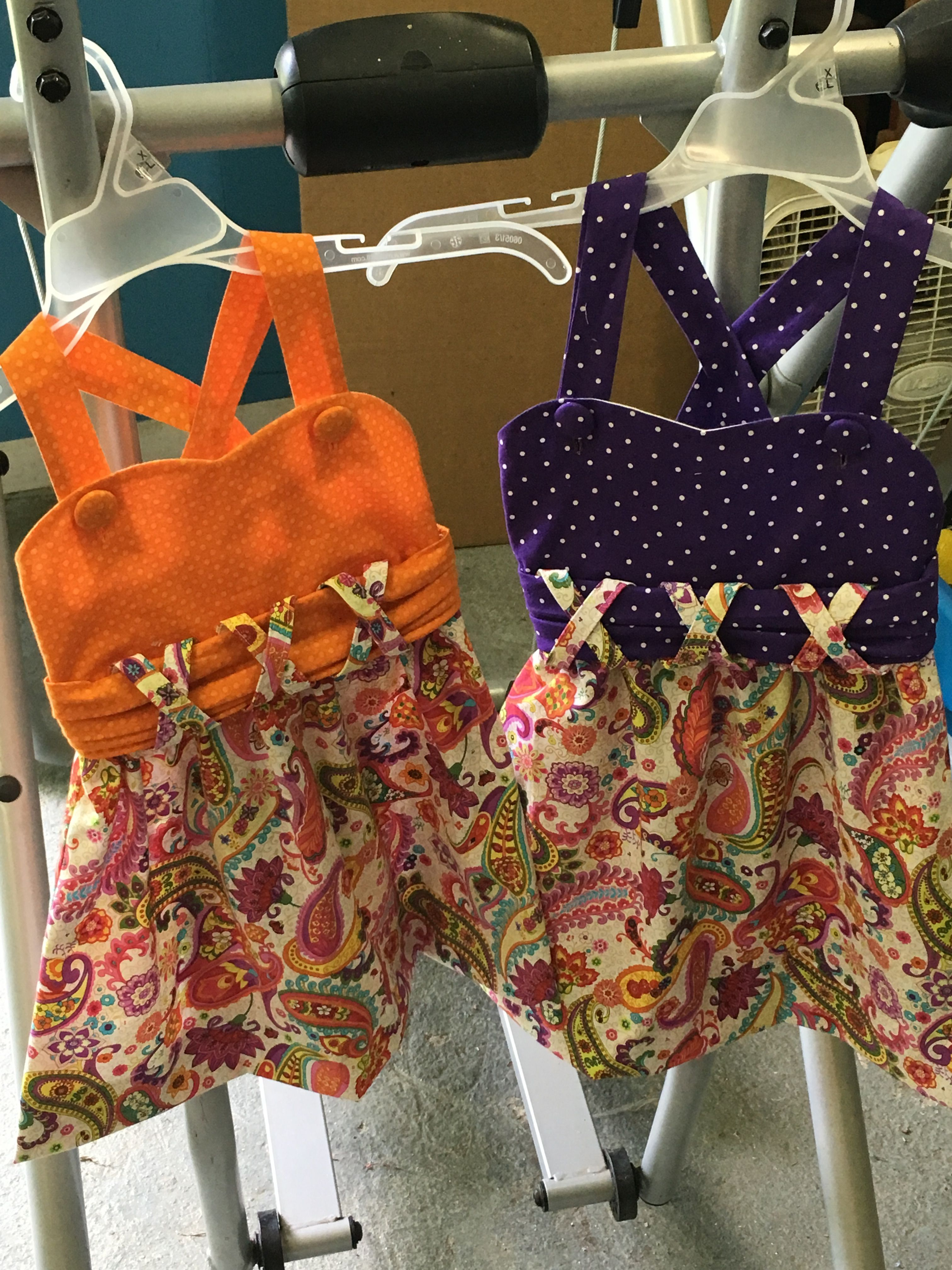 Sundresses that I made for those sweet little girls in their favorite colors.