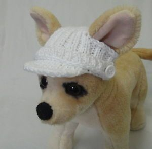 Pet-Clothes-Apparel-Spring-Outfit-Handmade-Knit-Visor-Hat-for-Small-Dog