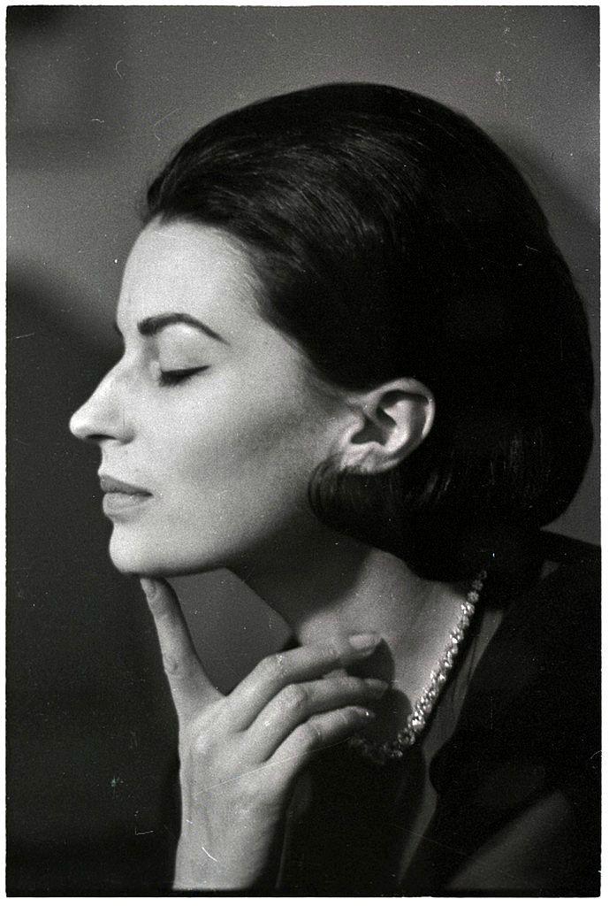 Profile of Silvana Mangano, photo by Angelo Frontoni, c.1965