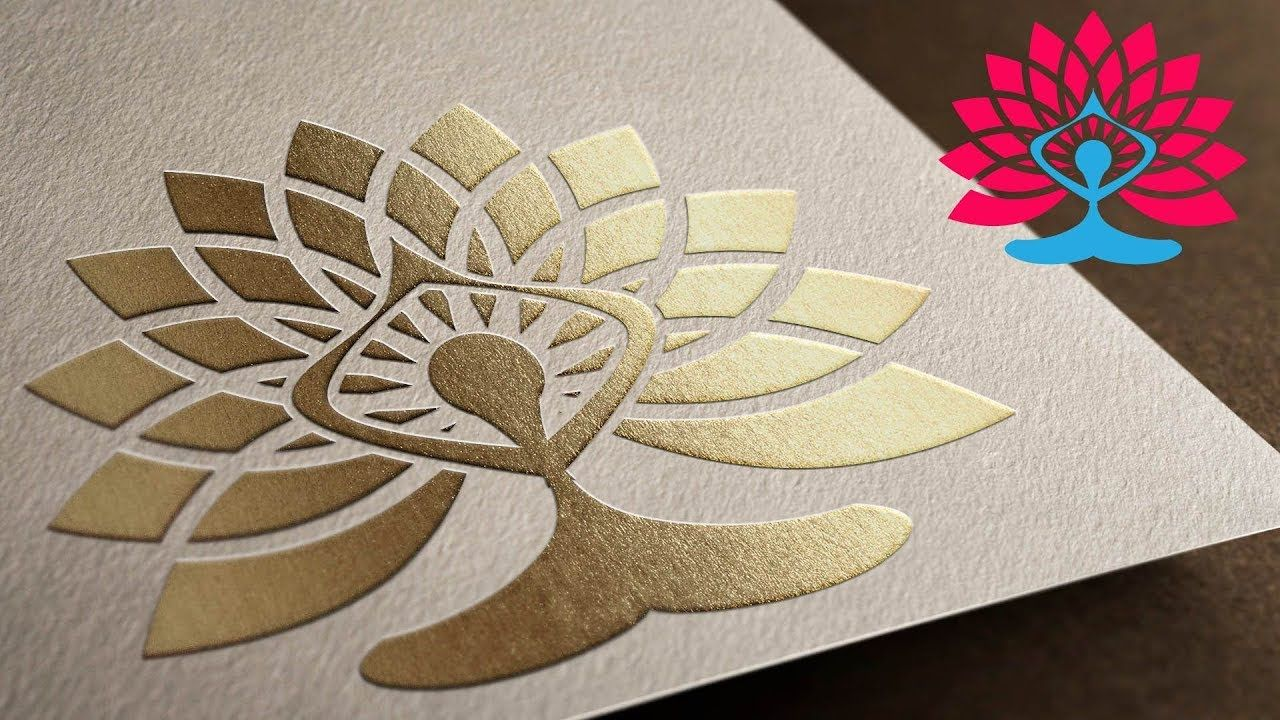 Yoga Symbol With Lotus Flower Tutorial In Illustrator Step By Step