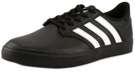 adidas Men's Seeley Premiere Black White Low Top Leather