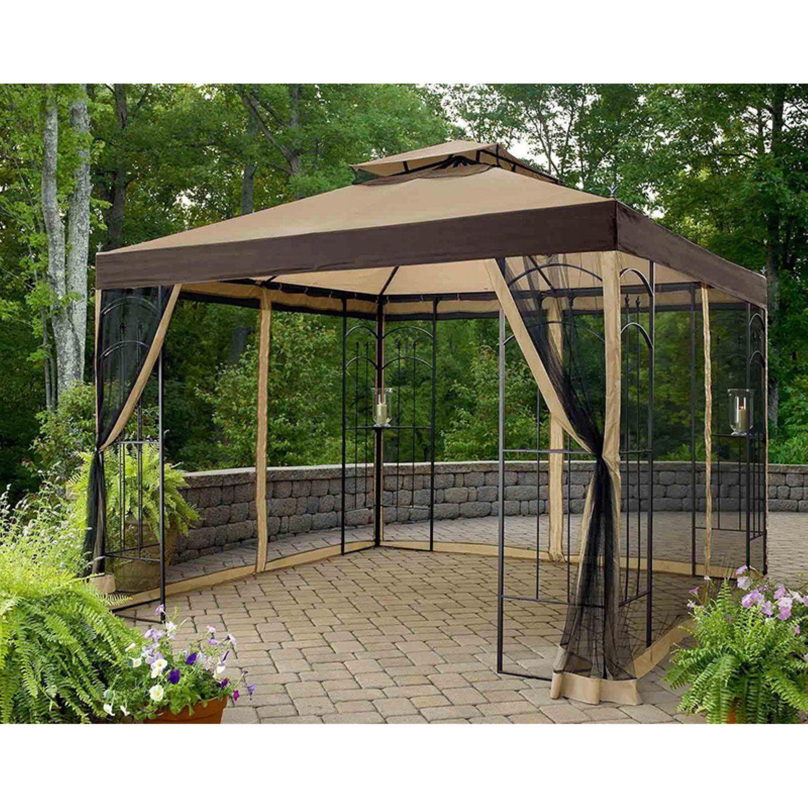 Sunjoy 10 X 10 Ft Replacement Canopy Cover For L Gz038pst 3a Winslow Gazebo Gazebo Canopy Gazebo