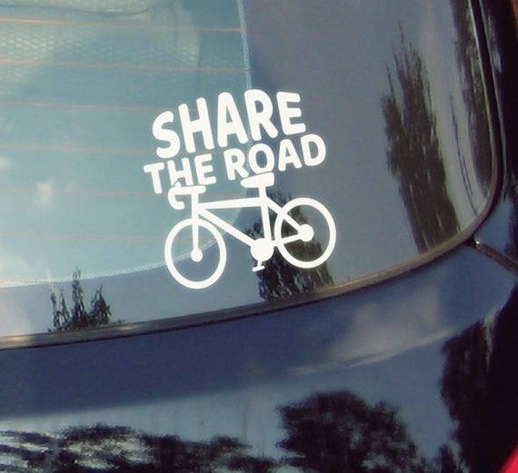 Bicycle  Sharetheroad  Stickers  Cars  Bicycling