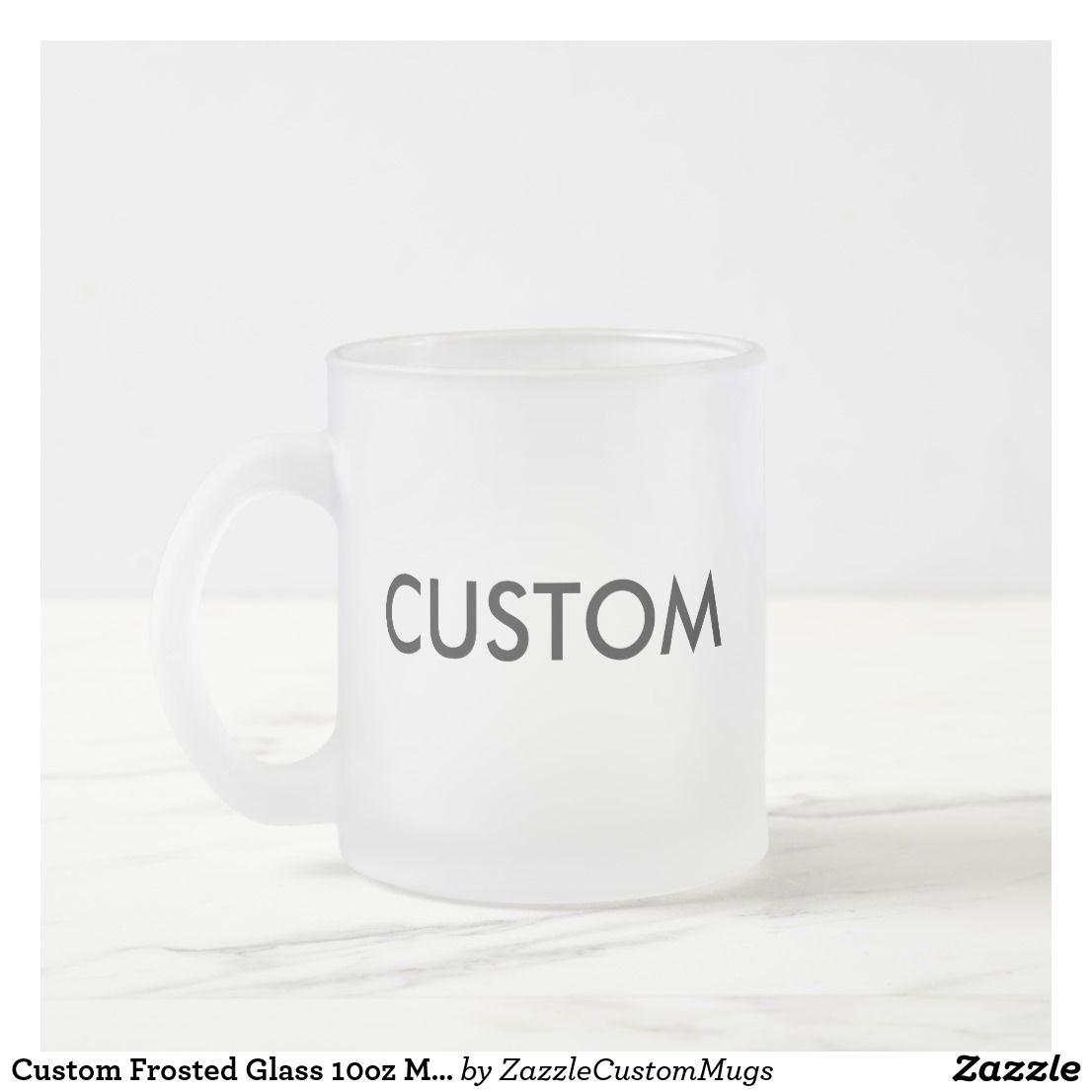 Custom Frosted Glass 10oz Mug