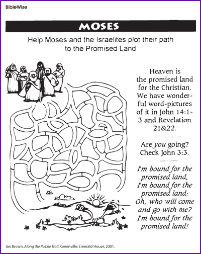 Maze, Moses and Promised Land – Kids Korner
