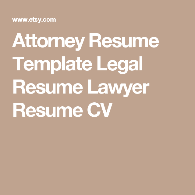 Attorney Resume Cv Template  Legal Resume Cv Lawyer Resume