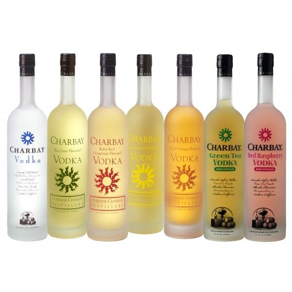 Charbay Flavored Vodka; 100% Pure Fruit Infused Into