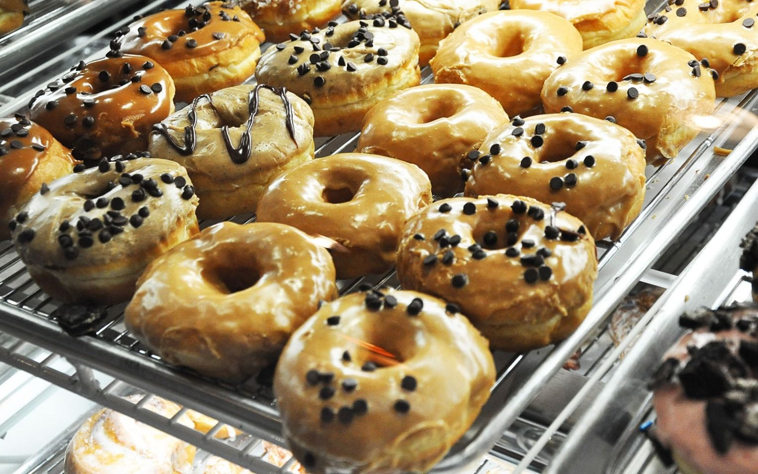 Sugar Shack Donuts in Richmond, Virginia: Hand-rolled, hand-cut donuts are made in small batches each day in every Sugar Shack in Virginia.