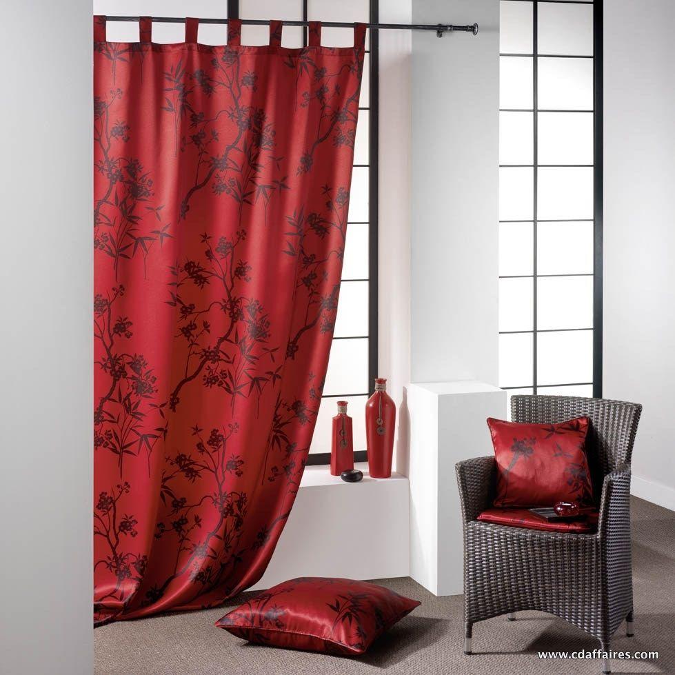 rideaux rouge