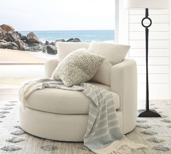 Balboa Upholstered Swivel Armchair Arm Chairs Living Room Swivel Armchair Armchair