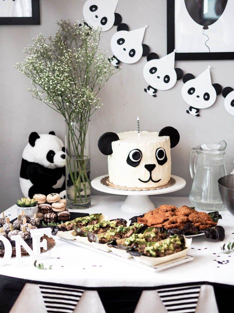 A lastminute panda first birthday party panda