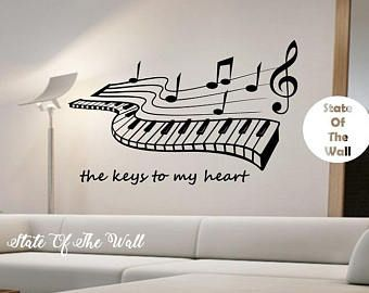 Girl Blowing Music Notes Vinyl Wall Decal Sticker Art Decor Bedroom ...