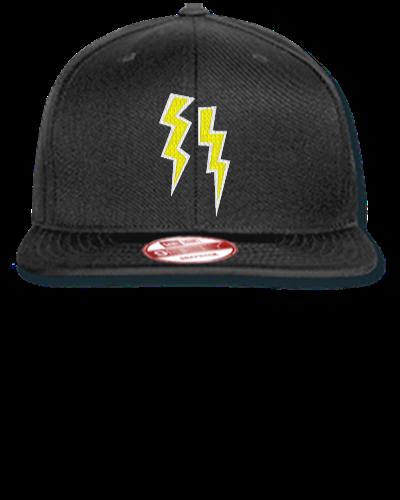 679a7294 lightning bolts embroidery - New Era Flat Bill Snapback Cap ...