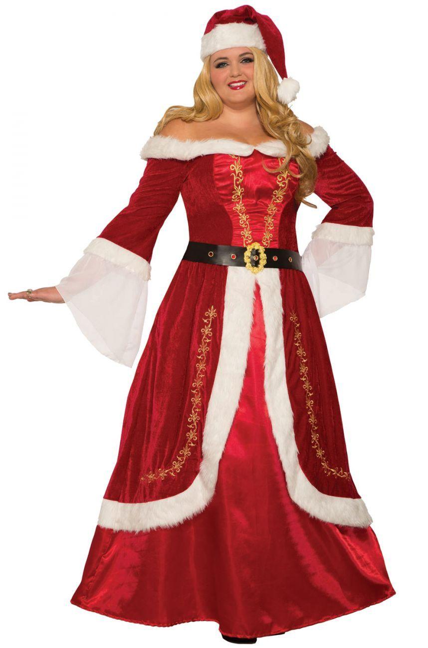 21 Fun Big Tall And Plus Size Halloween Costume Ideas Plus Size Costume Mrs Claus Dress Plus Size Halloween Costume