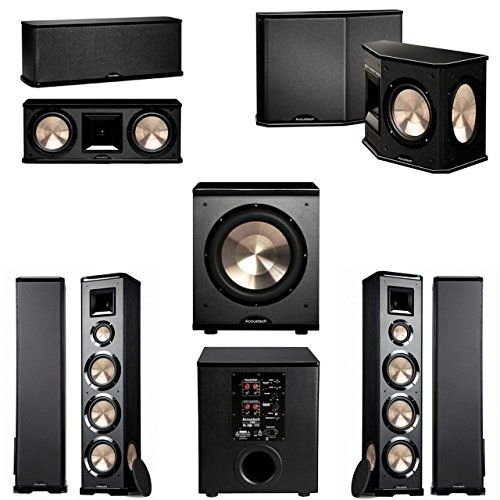 BIC Acoustech PL 980 51 Home Theater System 200 NEW Top Rated Bookshelf Speakers