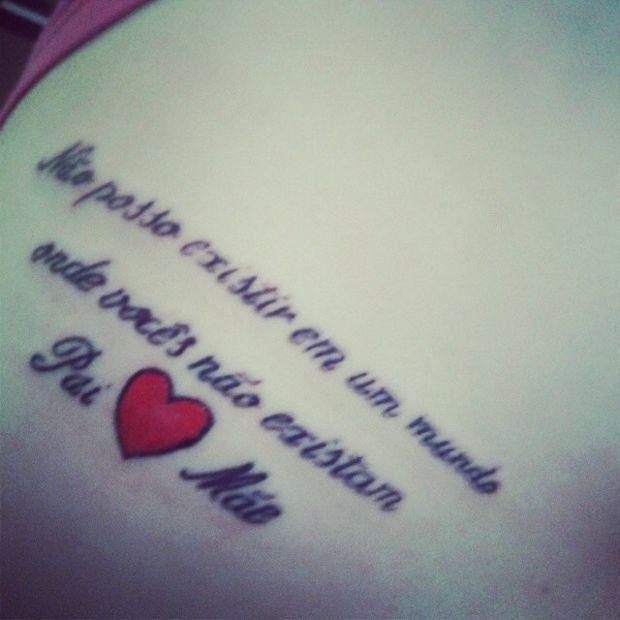 Frase Para Pai E Mãe Mãe E Pai Tatuagem Frase Para Pai E