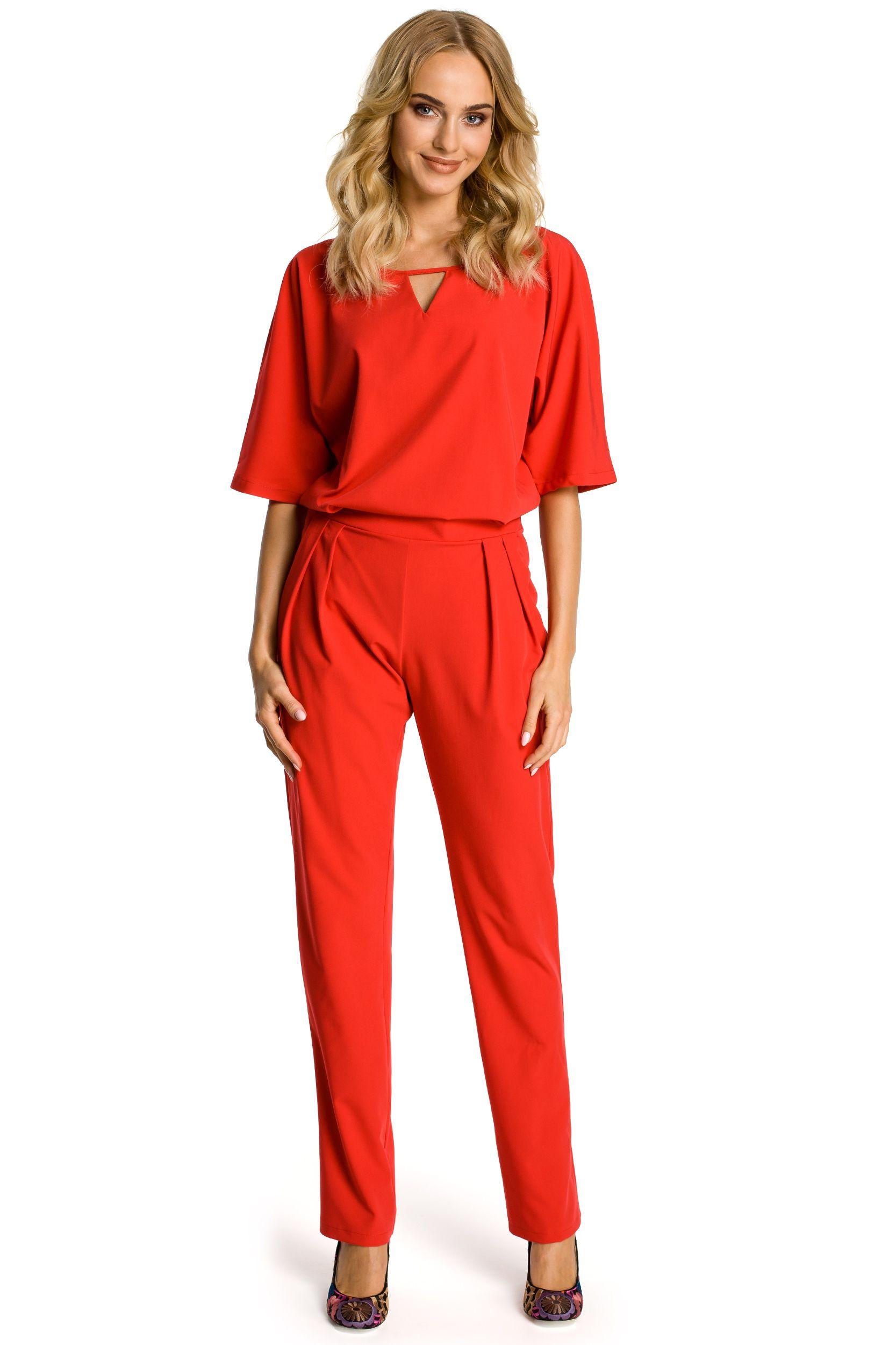 235e8711a3 Czerwony kombinezon damski  odzieżxl  kombinezon  plussize  elegancki   wesele  chrzest  komunia  xl  odzieżnawesele
