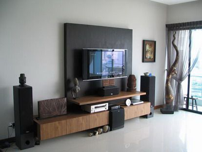 Wall Mounted Tv Furniture In Small Living Room Design Ideas