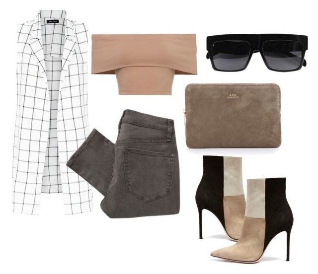 """""""Untitled #328"""" by eaubleue ❤ liked on Polyvore featuring Marc by Marc Jacobs, A.P.C. and Gianvito Rossi"""