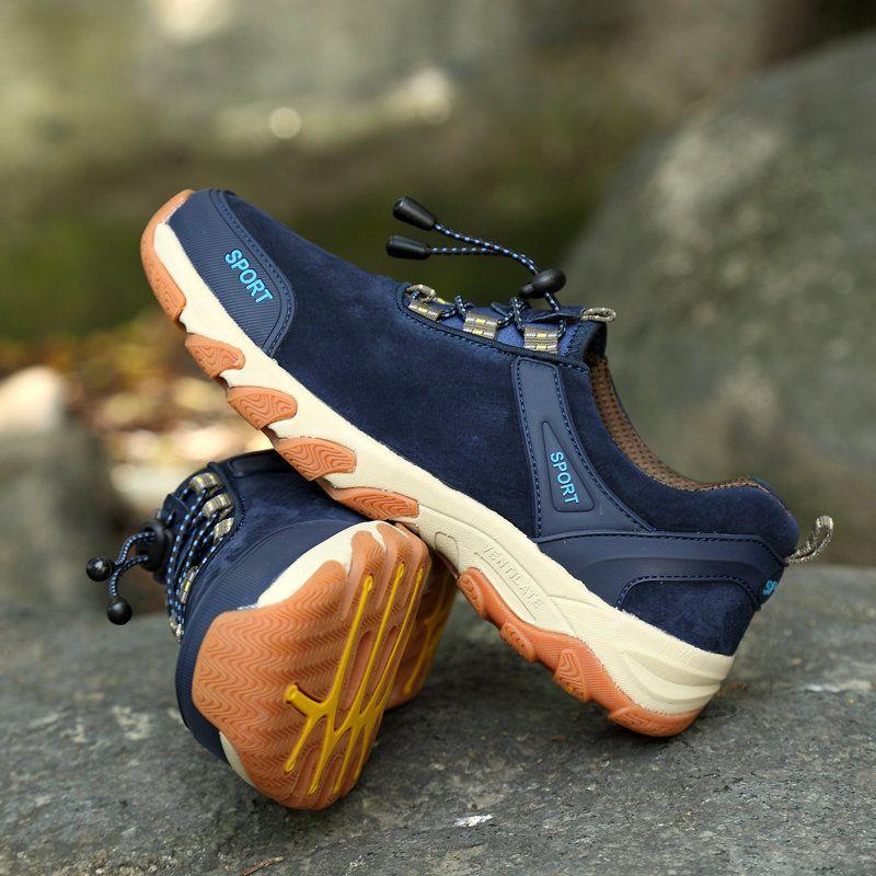 Cuir Hommes Respirant Chaussures De Randonnée Wearable D'escalade En Plein Air Résistant sBIgP