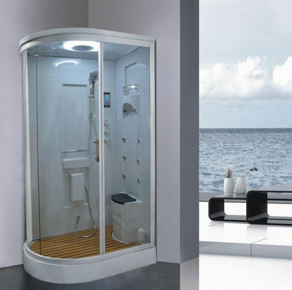 Prefab Shower Enclosures For Corner With Images Fiberglass