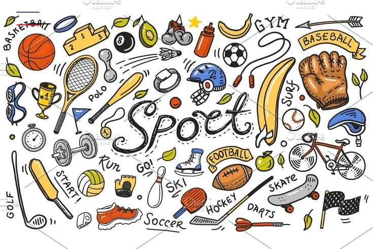 Set of sport icons doodle , #spon, #Equipment#style#training#fitness #AD<br>