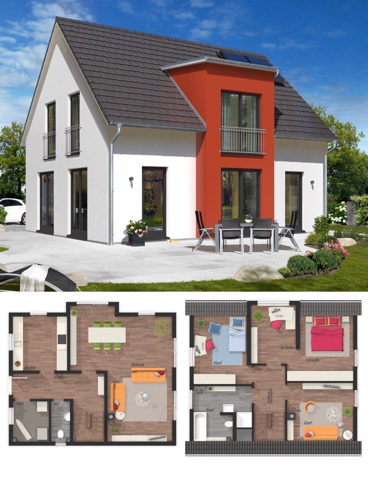 Massivhaus modern mit Satteldach Architektur & Querhaus