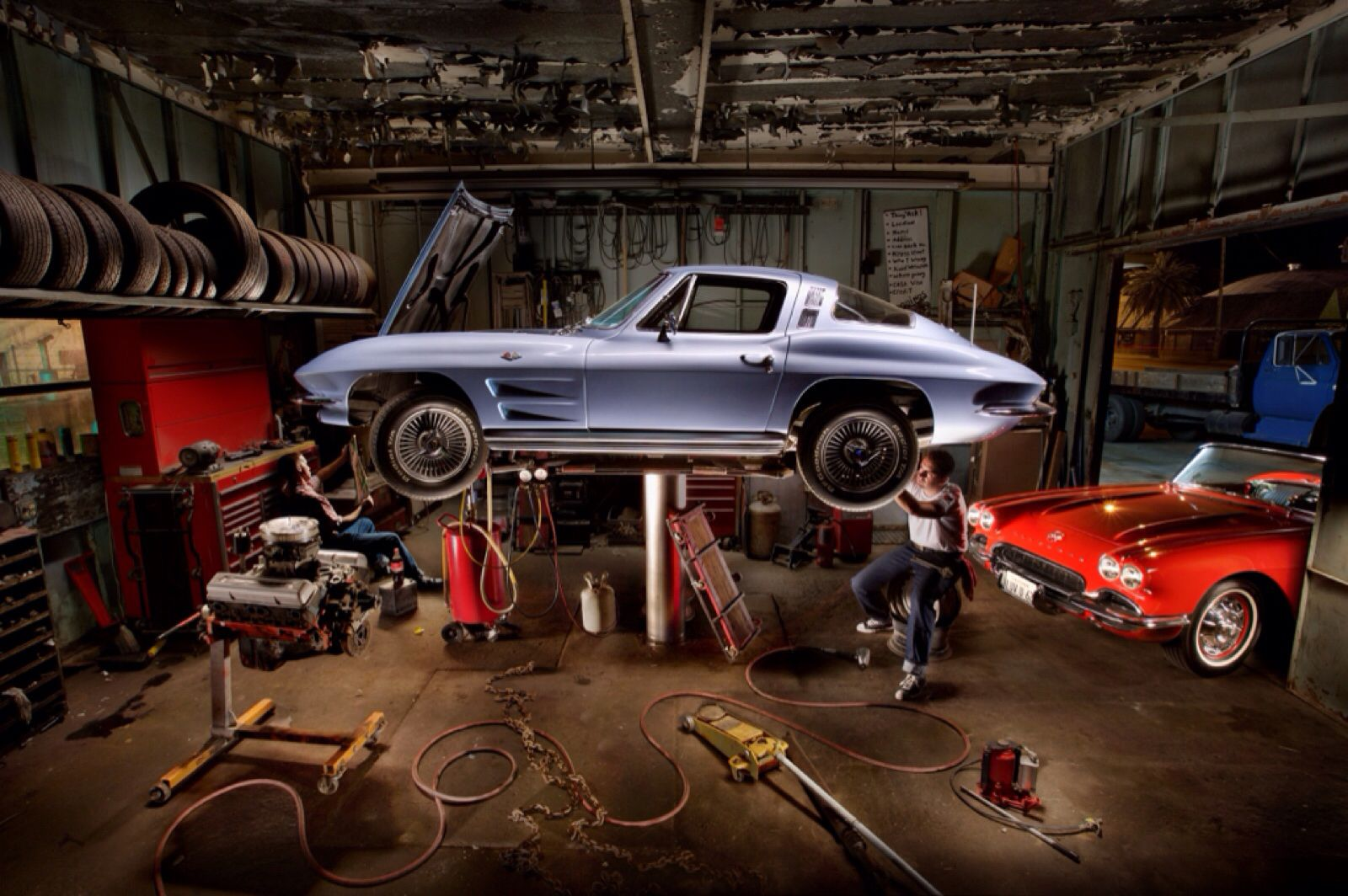 62 Corvette A Cooke And A Smile Corvette Garage Painting With Light Light Painting Night Photography Mechanics Classic Cars Vintage Cars Americana Res