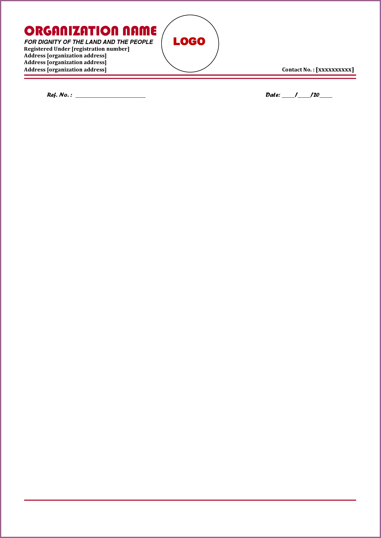 Letterhead Format Designproposalexample Sample Business Letter Head