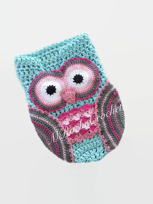 Owl photo prop, owl cocoon, crochet cocoon, newborn photo prop ...