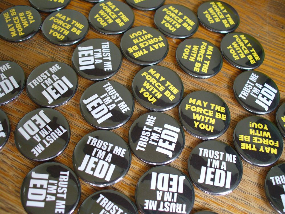 Hen Party 25mm Star Wars Wedding Button Badge with Fridge Magnet Option