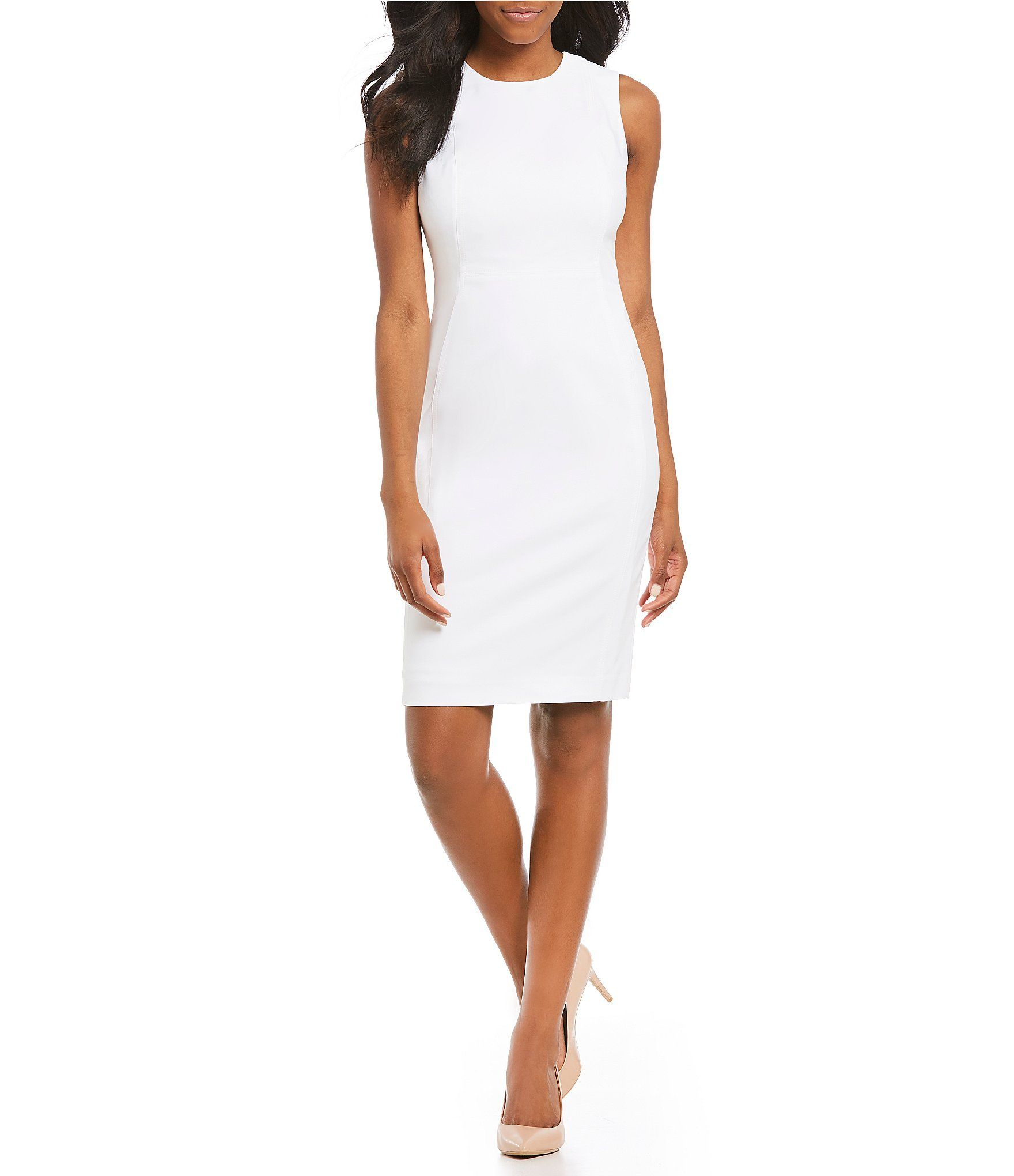 77d5f325932 Shop for Calvin Klein Solid Sleeveless Sheath Dress at Dillards.com. Visit  Dillards.com to find clothing