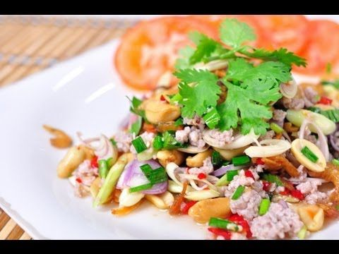 Thai food cooking tutorial yum ta krai spicy lemongrass salad thai food cooking tutorial yum ta krai spicy lemongrass salad with cashew nuts forumfinder Image collections