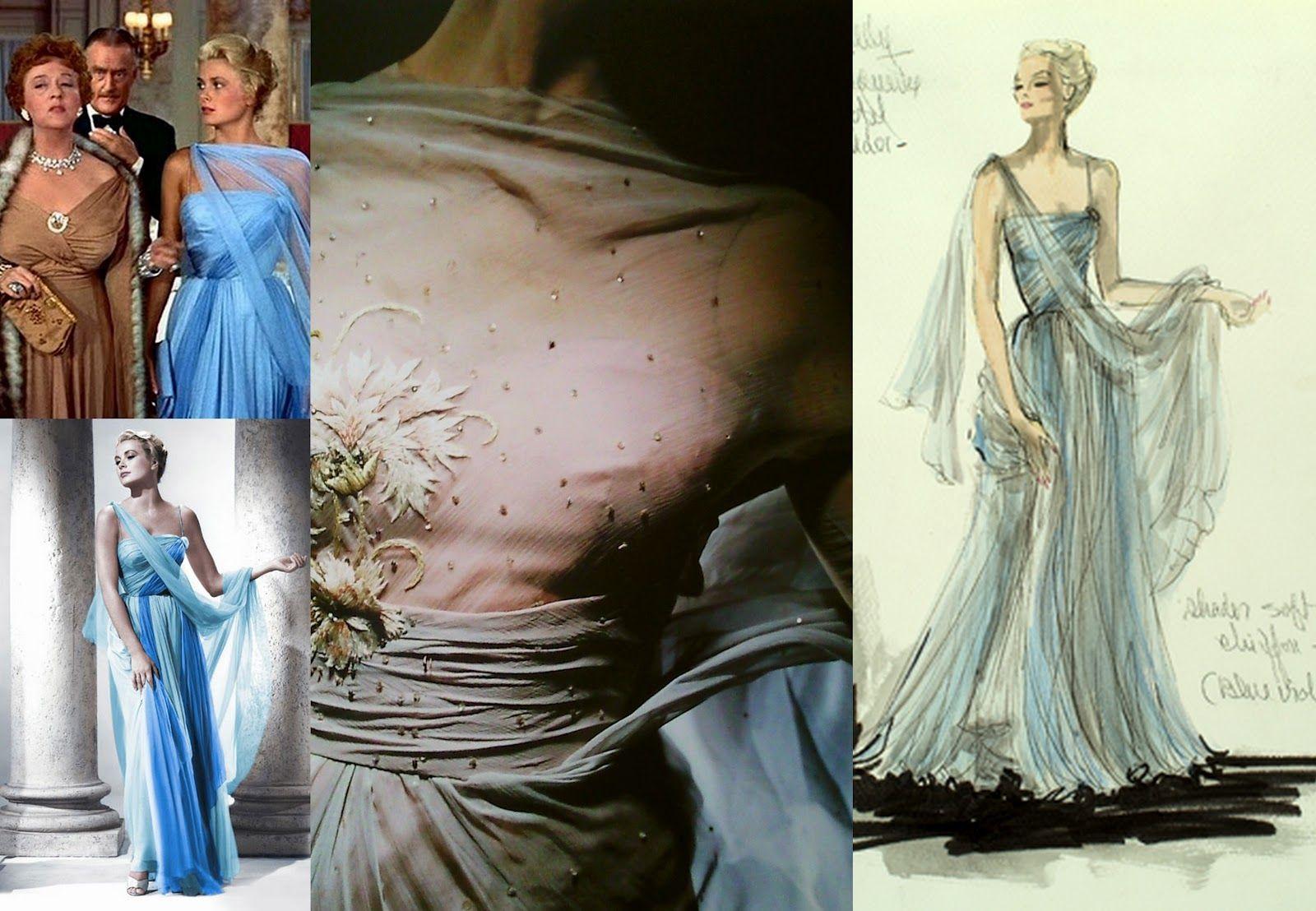 vestidos de películas de Hollywood Grace Kelly en Para atrapar a un ladrón