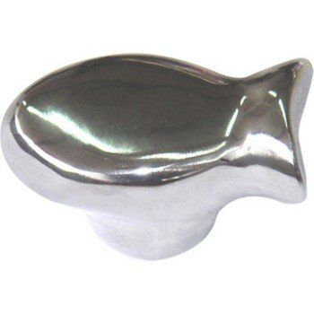 Bouton De Meuble Poisson Aluminium Brillant Leroy Merlin