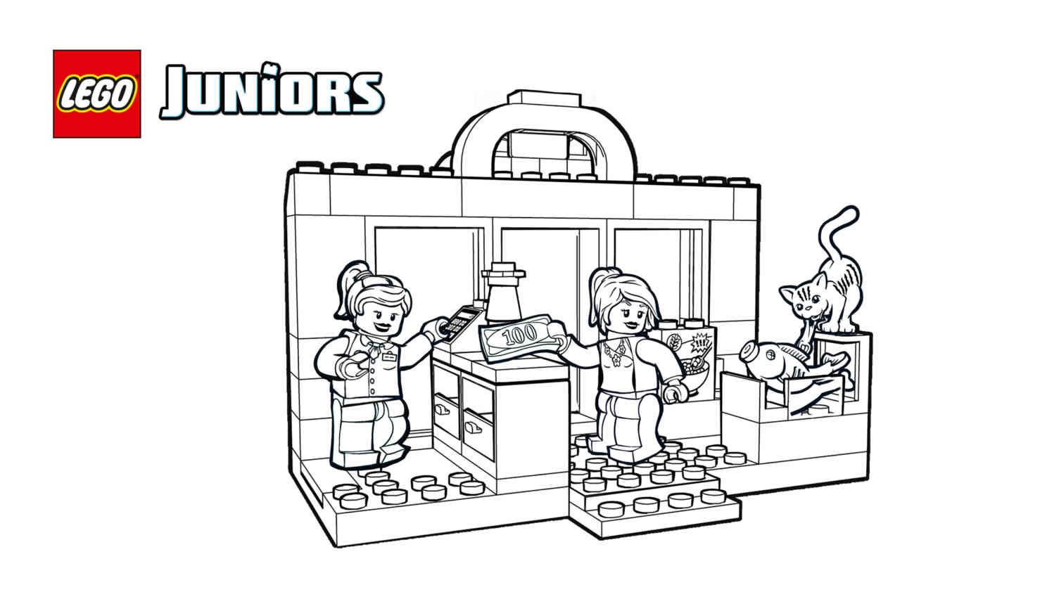 LEGO 10684 - Supermarket Suitcase coloring sheet. | LEGO® Coloring ...