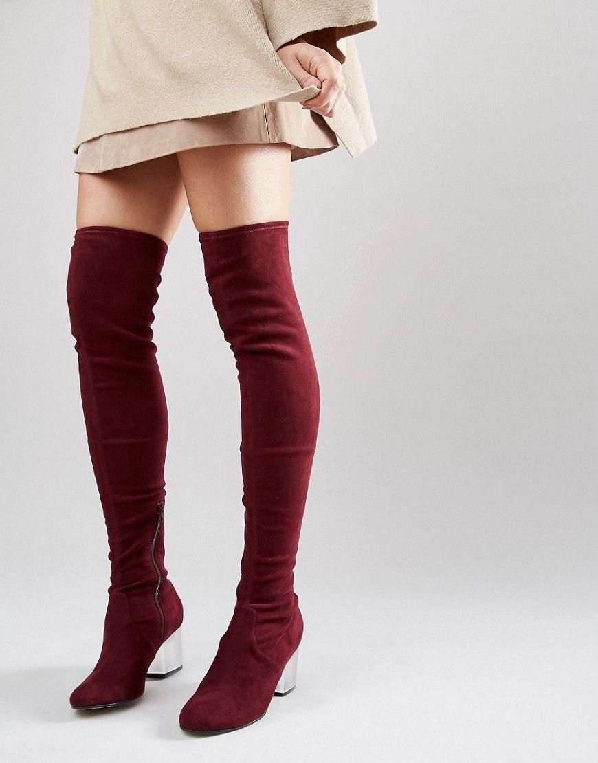 400ecffe0641 ASOS+KENTUCKY+Clear+Heel+Over+The+Knee+Sock+Boots