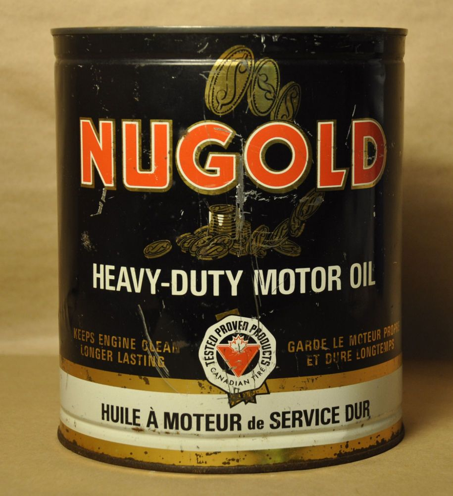 Driving gloves canadian tire - Vintage Nugold Heavy Duty Motor Oil One Imperial Gallon Can Canadian Tire Co