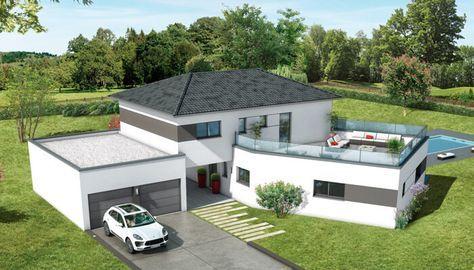 Maisons toit plat Ambre - plan maison maison Pinterest
