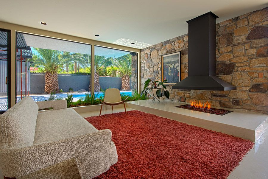 This mid century in Rancho Mirage is just about as good as it gets. Designed in 1957 by well-known Palm Springs architect E. Stewart Williams.