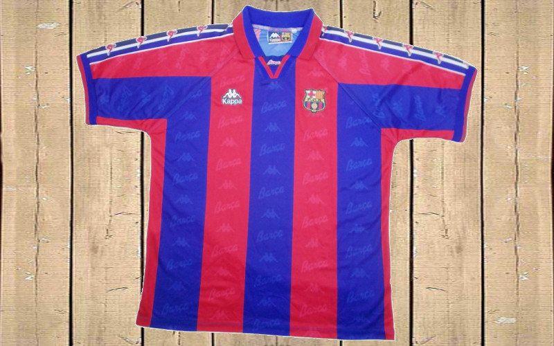 best authentic 26e80 40aad Barcelona Home Football Shirt 1995-97 Soccer Jersey (XL ...