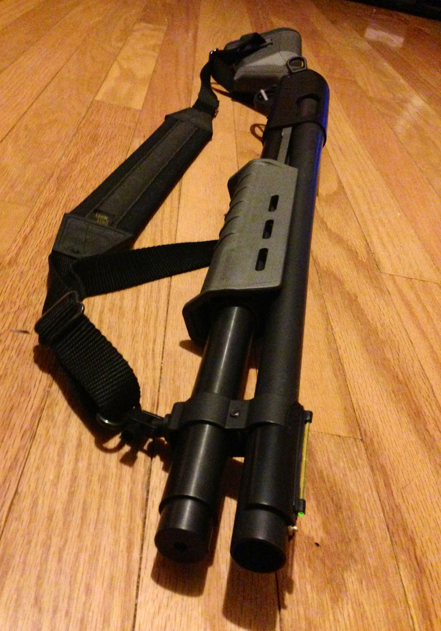 Awesome Remington express magnum cerakoted bat grey and graphite black with magpul furniture