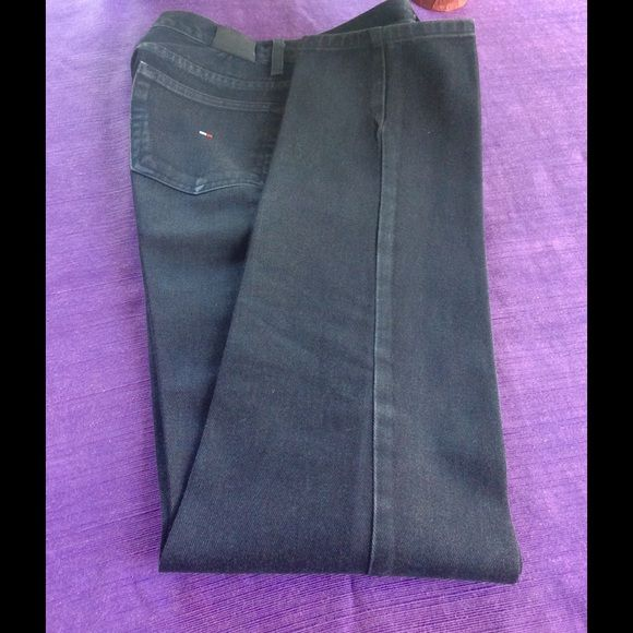 """Tommy Hilfiger Jeans Preloved in excellent condition. Straight leg. Rise 11""""; inseam 33"""". Faded look. Tommy Hilfiger Jeans"""