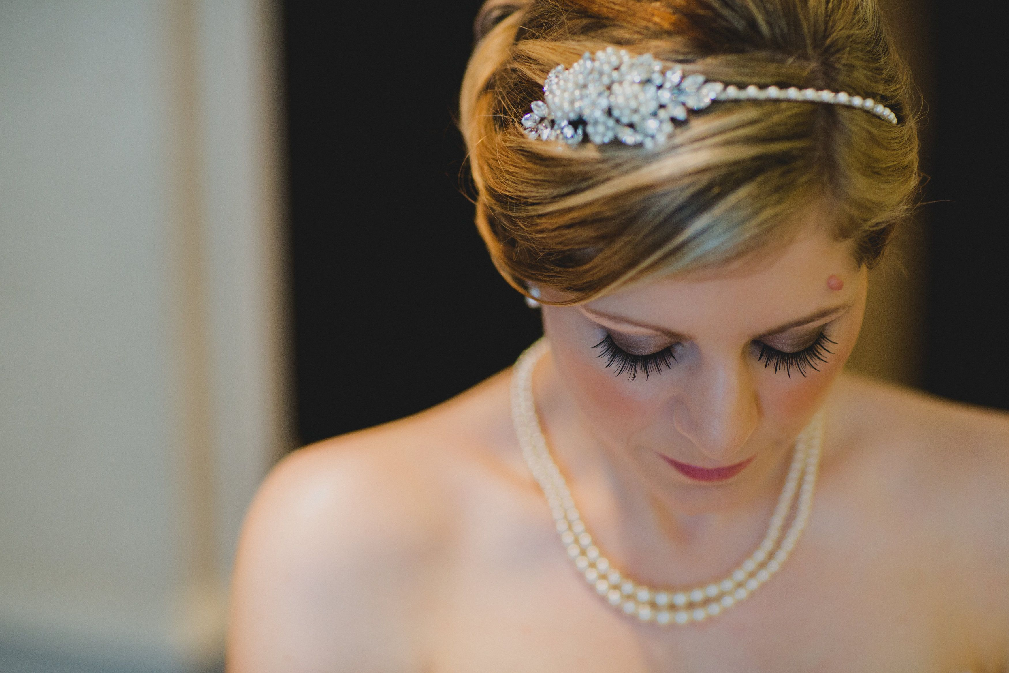 Wedding hair up with accesories by bow and blush bridal u occasion