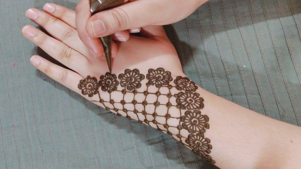 New And Simple Flower Mehndi Design For Hands Stylish Flower