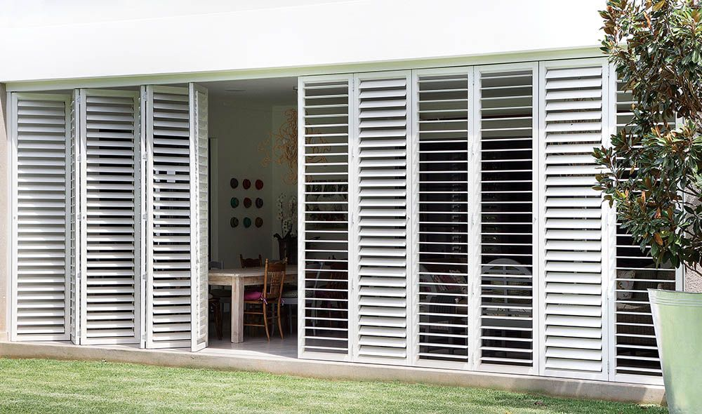 Plantation shutters security shutters decor house - Aluminum window shutters exterior ...